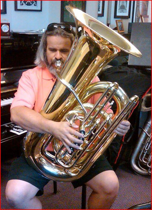 Tuba Playing Position