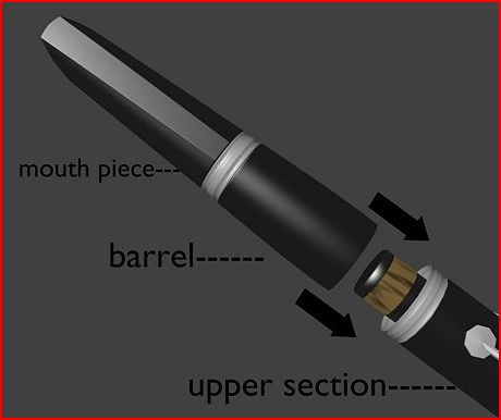 Clarinet-Barrel to upper section